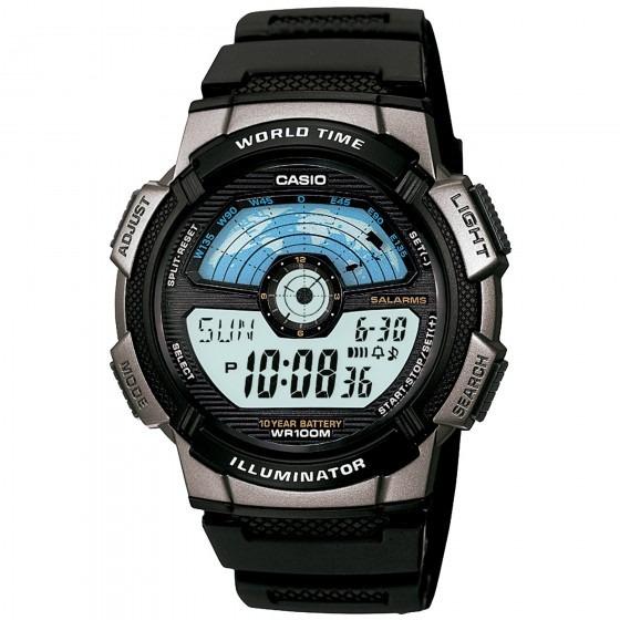 Relógio Casio Ae-1100w-1avdf Masculino Preto - Refinado