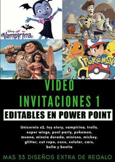 71 Video Invitaciones Digitales / Editables Powerpoint