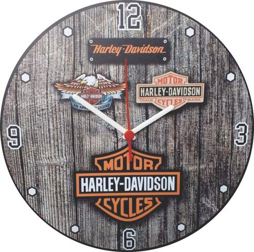 Relógio Em Mdf Harley Davidson