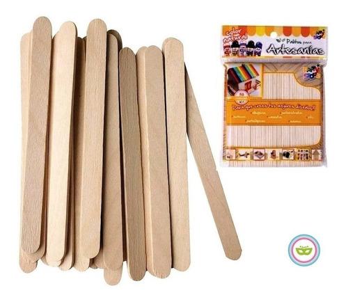 Palitos Helado Artesanías Natural 10 Pack X 50 Unidades
