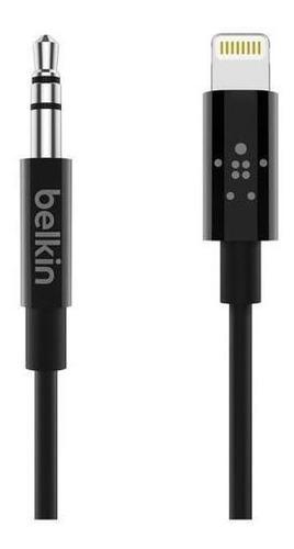 Imagen 1 de 5 de Cable Belkin Audio 3.5 Mm Conector Lightning 1 Metro Original Para iPhone