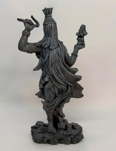 Orixá Obaluae / Olomu Estatua Em Resina 23 Cm