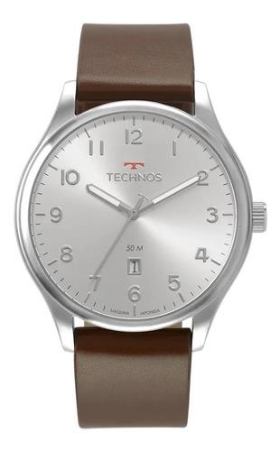 Relógio Technos Masculino Prata Classic Steel 2115mva/0k Nf