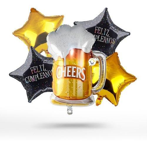Globos Bombas Metalizado Cerveza Cumpleaños Fiesta Oe248