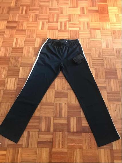 Pantalón Deportivo Hombre Talle Small Negro Original Recto