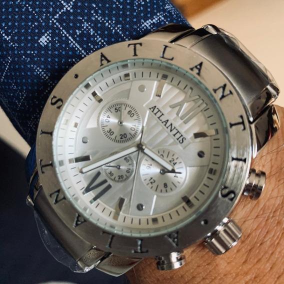 Relógio Masculino Atlantis Original A3310 BvLG Barato Luxo