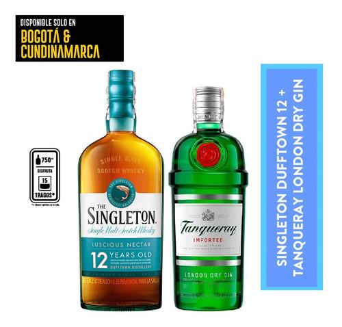 Singleton 12 + Tanqueray London - mL a $170