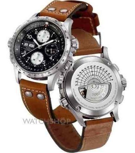 Rélogio Hamilton H77616533 Khaki Cronografo 44mm Automatico
