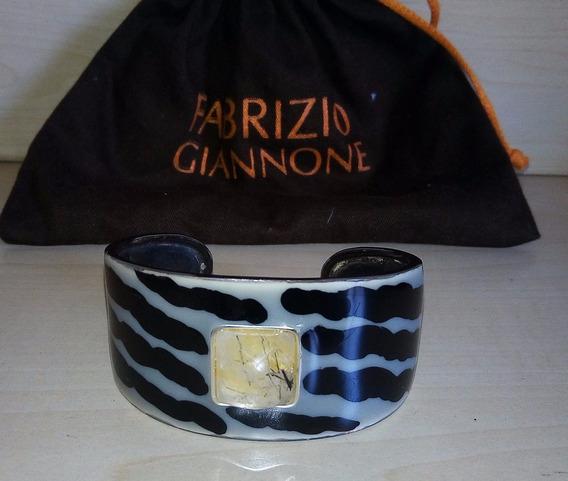Pulseira Bracelete Esmaltada Com Citrino - Fabrizio Giannone