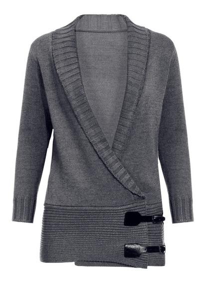 Suéter Mujer Chic Chal Manga Larga