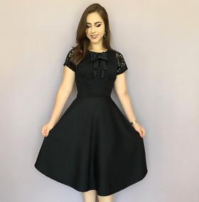 Vestido Boneca Laço De Renda Rodado