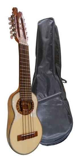 Charango Luthier Tallado Madera Artesanal Funda