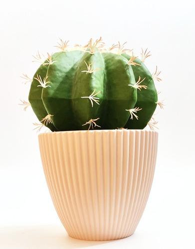Imagen 1 de 4 de Planta Artificial Maceta Con Cactus Para Interior 30cm Aprox
