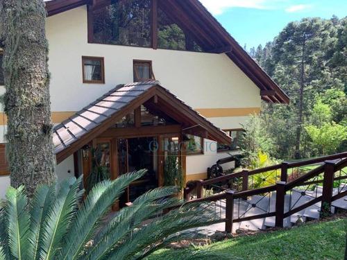 Casa Com 5 Dormitórios À Venda, 592 M² Por R$ 5.000.000,00 - Aspen Mountain - Gramado/rs - Ca0727