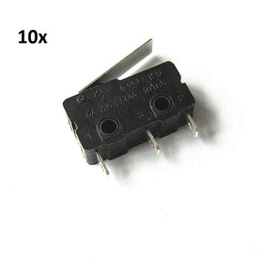 Kit 10x Chave Micro Switch Kw11-3z C/haste 18mm Pt 3t 5a