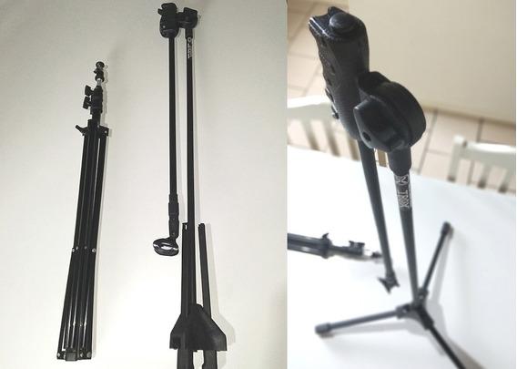 Tripé Greika + Pedestal De Microfone Ibox - Usado