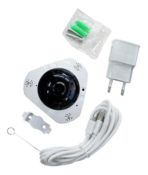 Mini Câmera Ip Espiã Wireless Hd Olho De Peixe Visão Noturna