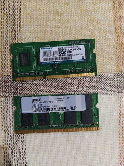 Memoria Ddr3 1gb 1333mhz Y Ddr2