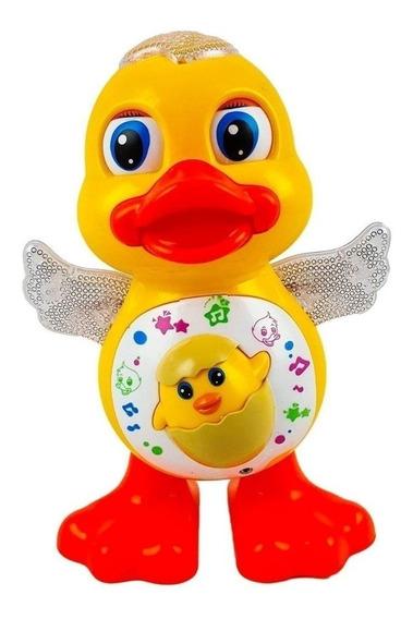 Brinquedo Pato Musical Infantil Canta E Dança Led Colorido