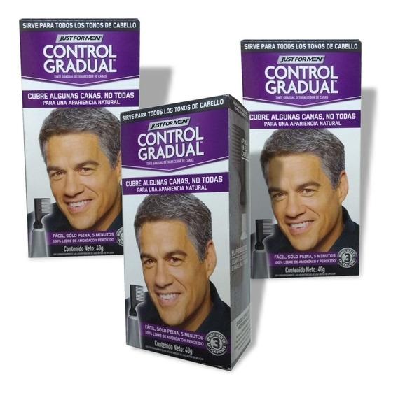 Just For Men Control Gradual Cubre Algunas Canas Pack 3un