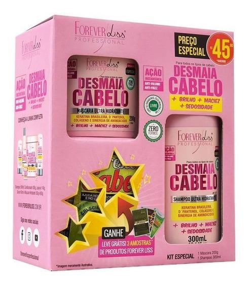 Kit Desmaia Cabelo Forever Liss Shampoo 300ml E Máscara 200g