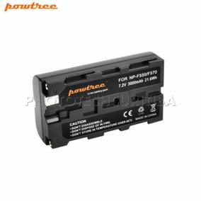 Bateria Sony Np-f550/f570 3000mah Powtree P Iluminadores Led
