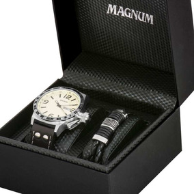 Kit Relógio Magnum Masculino Com Pulseira Original Ma31542u