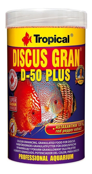 Ração Discus Gran D-50 Plus 110g Tropical Peixe Disco Mlfull