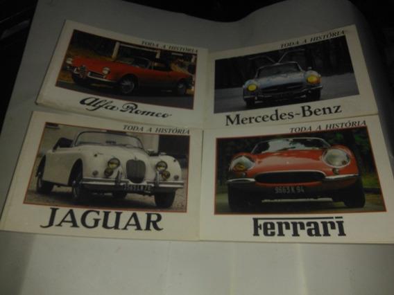 Lote Livros Jaguar,mercedes,ferrari E Alfa Romeo