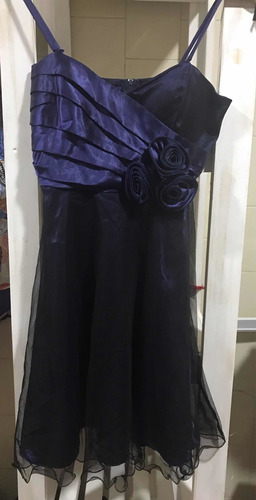 Vestido De Fiesta Azul Noche