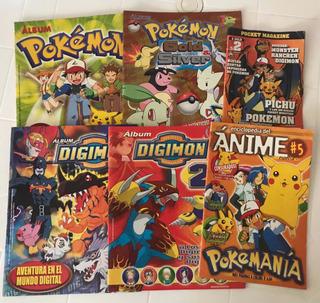 Pokemon Y Digimon Álbum Y Revistas Anime