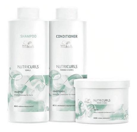 Wella Nutricurls Shampoo E Condicionador Litro Mascara 500g