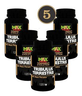 Frete Off Gratis Combo 5 Tribulus Max Power Maca Peru 120cps