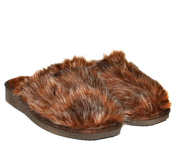 Pantufla Mujer Abrigo Peludo Base Antideslizante Confort