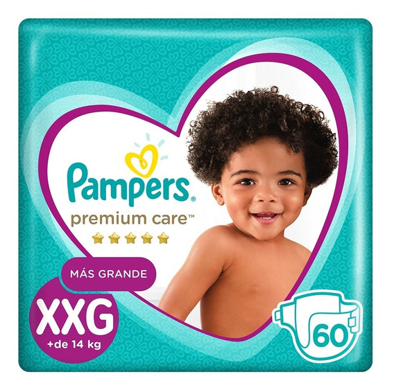Pampers Premium Care Xxg 60 Unidades