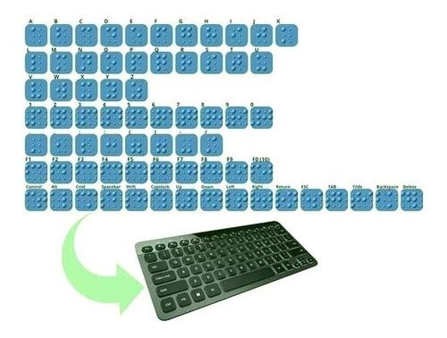 Etiquetas Para Teclado Braille 3dprint (principais Teclas)