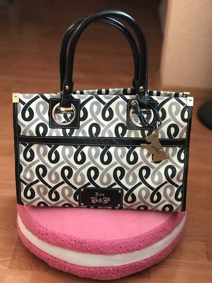 Bolsa Juicy Couture Logos Listones Saffiano