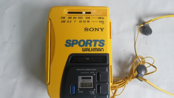 Sony Sports Walkman Wm-af58 Cassette Am Fm Radio Solar Power