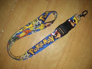 Lanyard/cordon Porta Gafete Pokemon