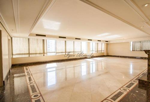 Imagem 1 de 30 de Luxuosa Cobertura Com 4 Dormitórios À Venda, 917 M² Por R$ 10.000.000 - Higienópolis - São Paulo/sp - Co0262