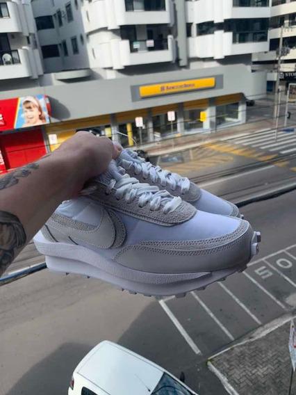 Tênis Nike Ld Waffle Sacai White Nylon - 39,5 Br / 8 Us