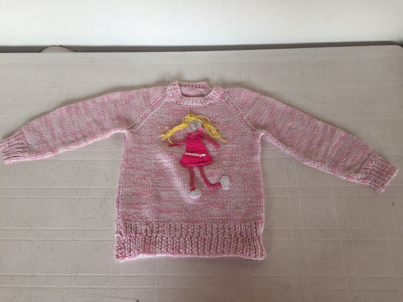 Sweter Nena 4 Años Tejido A Mano