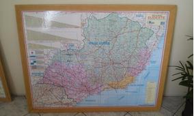 Mapa Região Sudeste Minas Gerais Emoldurado Multimapas Usado