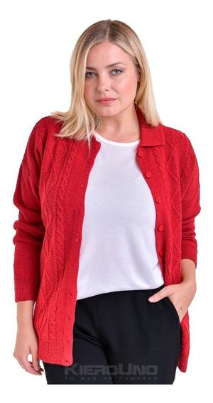 Cárdigan Americano Sweater C/ Botones Saco Lana Kierouno