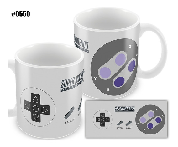 Caneca Personalizada Game Controle Super Nintendo Snes #0550
