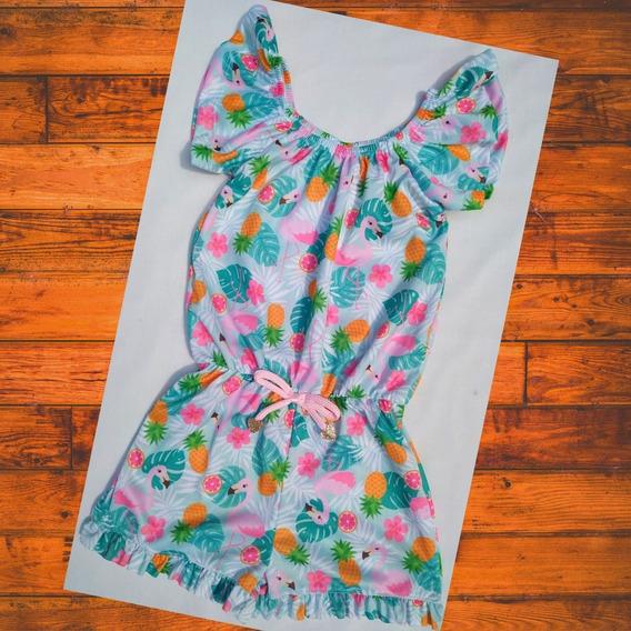 Macaquinho Flamingo Abacaxi Menina Roupa Infantil Promoção