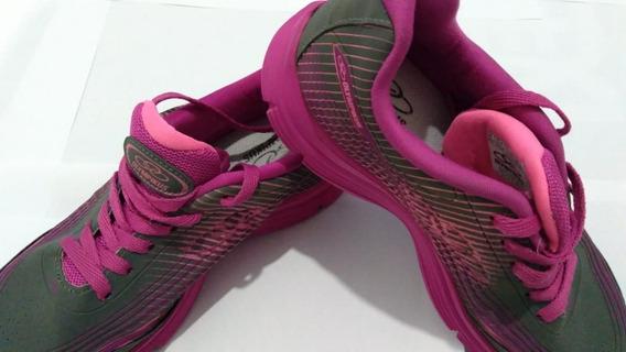 Tenis Feminino Olympikus Cinza E Pink Tamanho 35 ( Usado )
