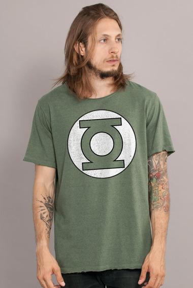 Camiseta Masculina Lanterna Verde Logo Oficial