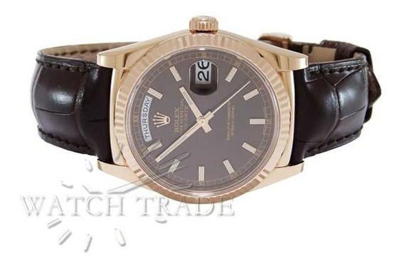 Relógio Rolex Presidente Day-date Ouro Rose 18k Ref: 118135
