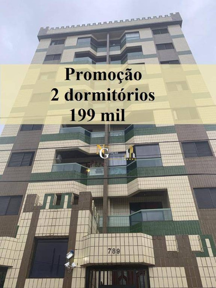 Apartamento Com 2 Dormitórios À Venda, 62 M² Por R$ 199.000 - Vila Assunção - Praia Grande/sp - Ap2362
